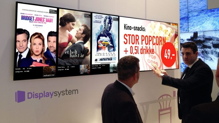 Displaysystem digitale kinoplakater