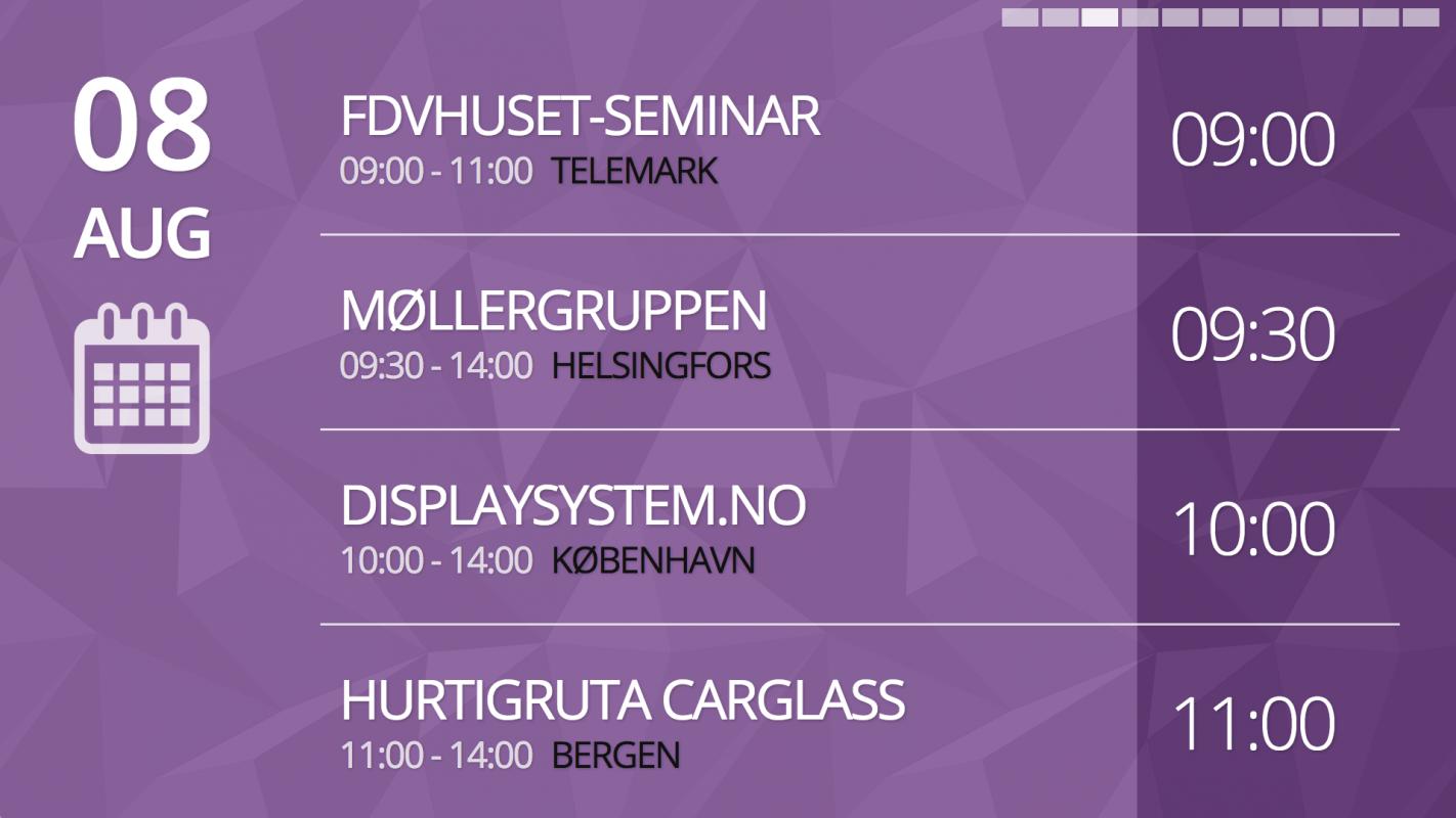Kalender-moteromsvisning-Displaysystem